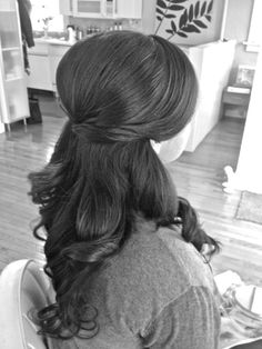 half up/half down do... the bottom of this style with the russian braid added behind fringe