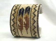 Thumbnail of Southwestern Beaded Cuff Bracelet 1844, Desert Sage!!! Awesome, awesome cuffs!!!