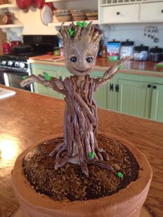 Baby Groot Cake Recipes For Yummy Food Pinterest