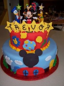 Mickey Mouse Clubhouse birthday cake. Wow! Gonna have to get my cake lady to make this. Love It!