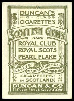 Duncan & Co Cigarette Card Back by cigcardpix, via Flickr