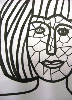 Obličej - vitráž