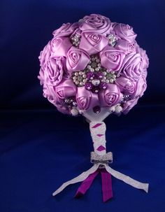 Bouquet-Purple Satin Roses