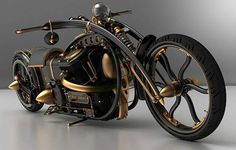 An Incredible Steampunk Motorcycle.