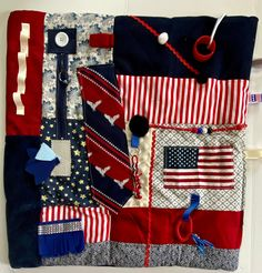 Excited to share this item from my #etsy shop: Fidget Blanket for Alzheimer's, Fidget Quilt, PATRIOTIC AMERICAN Restless Remedy Dementia Care, Alzheimer's And Dementia, Saving Coins, Fidget Blankets, Fidget Quilt, Custom Quilts, Alzheimers, Etsy App, Sell On Etsy