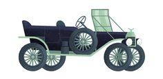 Stylish Illustrations of Classic Automobiles by Studio MUTI – Fubiz Media