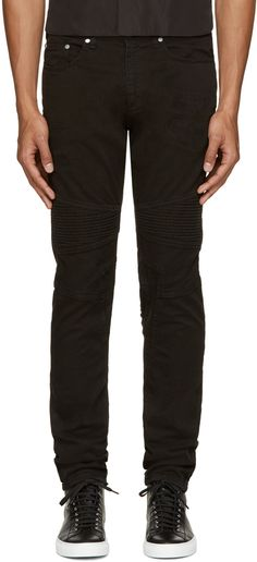 biker panel trousers - Blue Neil Barrett eqO7A