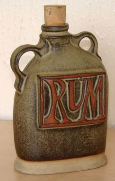 Tremar Pottery - Decanter Bottle, rum