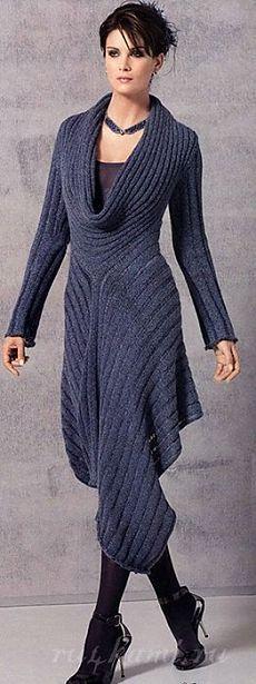 """Оригинальное платье спицами » Сайт """"Ручками"""" - делаем вещи своими руками"""