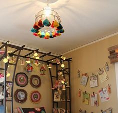 Tassels lampshade // lámpara borlas