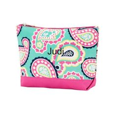 Personalized Paisley Accessory Bag