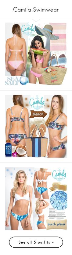 """Camila Swimwear"" by gaby-mil ❤ liked on Polyvore featuring Linum Home Textiles, Dolce&Gabbana, Rebecca Minkoff, Summer, black, swimwear, handmade, camilaswimwear, J.Crew and Draper James"