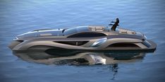 The Xhibitionist superyacht was designed with the profile of a supercar by the celebrated high-end yacht,...