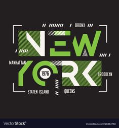 New york t-shirt and apparel geometric vector image on VectorStock Graphic Design Posters, Typography Design, Graphic Tees, New York T Shirt, Creative Fonts, Badge Design, Apparel Design, Logos, Shirt Designs