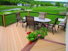 Our wood plastic composite (WPC) decking is available in a range of warm colours all designed to complement your unique design preferences and enhance your home or venue.If u need,just click the website and leave the details on it. Balustrade Balcon, Balustrades, Deck Design Plans, Patio Design, Wpc Decking, Composite Decking, Terrasse Design, Landscape Timbers, Outdoor Flooring