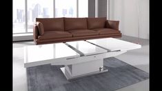 14 Height Adjustable Coffee Table Expandable Into Dining Table Inspiration Large Square Coffee Table, Coffee Table To Dining Table, Unique Dining Tables, Dinning Room Tables, Square Dining Tables, Coffee Tables, Folding Coffee Table, Coffee Table Expandable, Adjustable Coffee Table