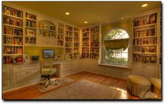 window seat and bookcases in Arlington, Virginia