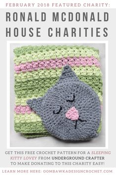 February 2018 Featured Charity: Ronald McDonald House. Presented by Marie of Underground Crafter for Oombawka Design Crochet Charity Project via @OombawkaDesign