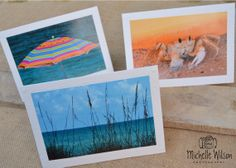 Fun in the Sun Card Pack...3 cards...Beach, Ghost Crab and Beach Umbrella...Fine Art Photography Greeting Cards