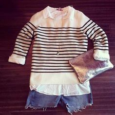 Casual nautical #outfit - perfect for a vacation or day of shopping! #CalypsoStyle