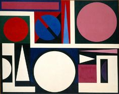 Auguste Herbin (1882-1960), 1955, Nature 2,, oil on canvas. iL