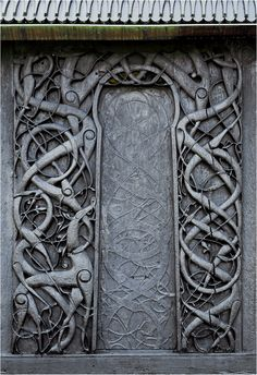 wooden_portal of a stone church Early medieval 1050-1070 CE
