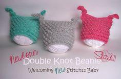 Free Crochet Pattern - Newborn Double Knot Beanie