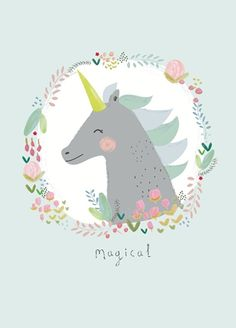 Aless Baylis 'Postcard Magical Unicorn'