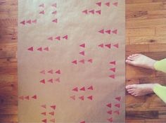 DIY potato-stamped wrapping paper. sovereign soliloquy