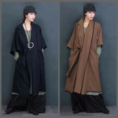 Two Colors Maxi Size Wool Fashion Long Winter Coat Women Clothes 7016A