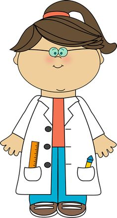 Girl Scientist Clip Art - Girl Scientist Vector Image