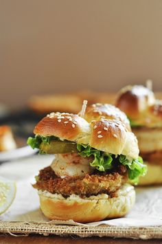 Fried Green Tomato and Shrimp Sliders