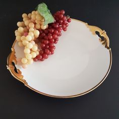 Antique MZ Austria Handle Cake Plate, Moritz Zdekauer, Gold Gild Double Handles, Dessert Plate, Serving Plate Vintage China, Vintage Tea, Bubble Paper, Crystals In The Home, Gold Gilding, Round Cakes, Tea Cakes, Serving Plates, Cake Plates