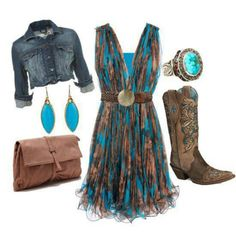 Country dresses - all sizes and colours Country Girls Outfits, Cowgirl Outfits, Western Outfits, Western Wear, Cowgirl Dresses With Boots, Country Dresses With Boots, Country Western Dresses, Cowgirl Clothing, Western Girl