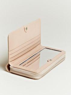 Maison Martin Margiela 11 Women's Leather Inner Mirror Wallet | LN-CC