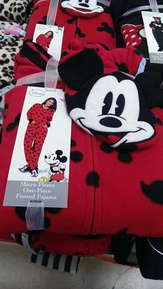 Micro Fleece One-Piece Footed Pajamas Mickey Mouse