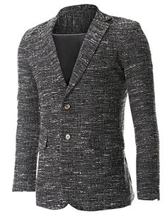 FLATSEVEN Mens Tweed Multi Woven Two Button Wool Blazer Jacket (BJ463) Black, M FLATSEVEN http://www.amazon.co.uk/dp/B00NV8DYVA/ref=cm_sw_r_pi_dp_CAFyub0WZ2P5Q