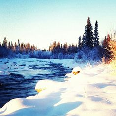 Sunrise on the Montreal River, #Saskatchewan.