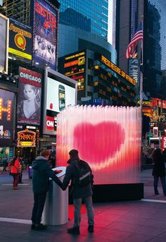 cf760130d30a Times Square Valentine- When people touch a heart-shaped sensor