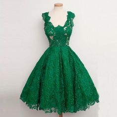 Emerald Green Lace Prom Dresses Classic Women Formal Gowns Short Prom Dresses…