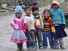 Sikkim reis - kinderen in Sikkim