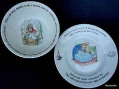 Wedgwood Peter Rabbit Bread Plate & Coupe Cereal Bowl Beatrix Potter Nursery