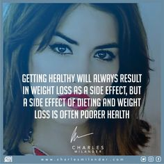 Getting healthy will always result in weight loss as a side effect, but a side effect of dieting and weight loss is often poorer health. #cleaneating #healthy #cleanrecipes #healthychoice #cleanRecipe #eatclean #glutenfree #vegan #paleo #fitfood #healthylifestyle #healthyrecipes #eatclean #organic #foodporn #protein #working #founder #startup #money #magazine #moneymaker #startuplife #successful #passion #inspiredaily #hardwork #desire #motivation #entrepreneur #entrepreneurs  #newyork..