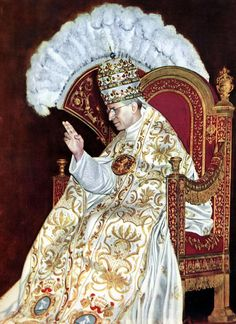 When Popes Wore Tiaras.  Pictured is Pope Pius XII.