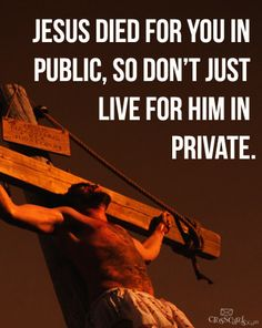 Not a private matter. We need to be reminded of this daily!