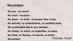 November Poem by Thomas Hood - Poem Hunter