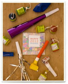 New Years Eve Kits for friends and Neighbors. Great idea if you were too swamped to deliver treats during Christmas.