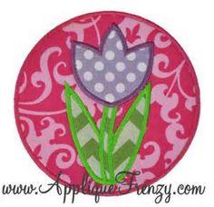 476 Tulip Circle Patch Applique Design