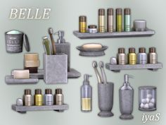 Sims 4 CC's - The Best: Belle Cosmetics Set by Soloriya