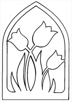 Tulipán Kirigami, Coloring Books, Coloring Pages, Scroll Saw Patterns, Pop Up Cards, Craft Patterns, Spring Crafts, String Art, Flower Crafts